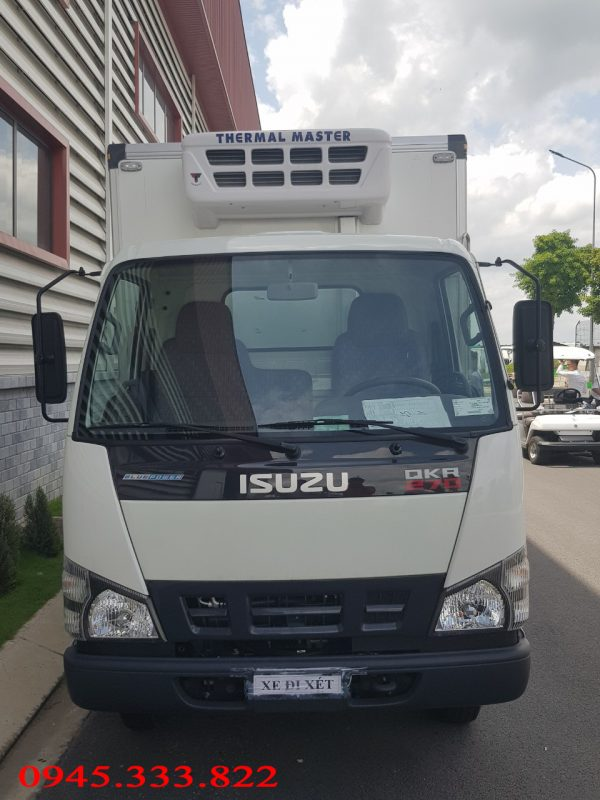 Xe tải isuzu 2.4 tấn thùng đông lạnh Quyền Auto đóng thùng.