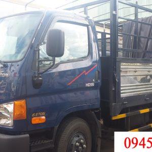 Hyundai HD99 thùng mui bạt có tải trọng cho phéo chở hàng là 6.5 tấn. Thùng xe dài 4980 mm. Phù hợp chuyên chở hàng hóa trên các quãng đường tầm trung.