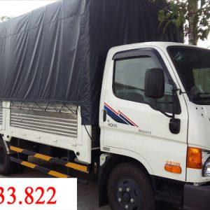 hyundai HD65 thùng mui bạt với tải trọng 2.5 tấn được ưa chuộng tại Việt Nam.