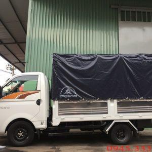 Xe tải hyundai new porter h150 thùng mui bạt tải trọng 1.5 tân. Xe được lắp ráp bởi nhà máy Hyundai Thành Công
