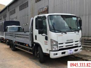 Xe tải Isuzu 3.5 tấn thùng lửng màu trắng