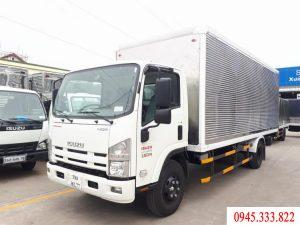 xe tải isuzu 5 tấn thùng kín, màu trắng