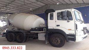 xe bồn trộn bê tông hyundai HD270